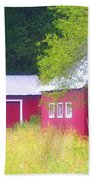 Peaceful Country Barn And Meadow Beach Towel