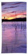 Purple Lake  Beach Towel