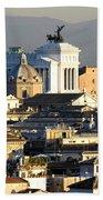 Rome's Rooftops Beach Towel