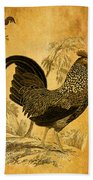 Thanksgiving Rooster Beach Towel