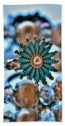 0002 Turquoise And Pearls Beach Towel
