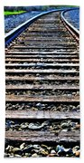 0004 Train Tracks  Beach Towel
