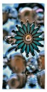 0004 Turquoise And Pearls Beach Towel
