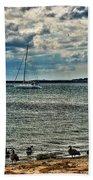 001 On A Summers Day  Erie Basin Marina Summer Series Beach Towel