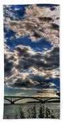 001 Peace Bridge Series II Beautiful Skies Beach Sheet
