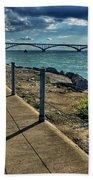 002 Peace Bridge Series II Beautiful Skies Beach Towel