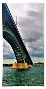 003 Stormy Skies Peace Bridge Series Beach Towel