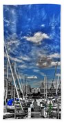 007sc On A Summers Day  Erie Basin Marina Summer Series Beach Towel