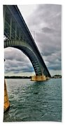 009 Stormy Skies Peace Bridge Series Beach Towel