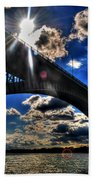 010  Peace Bridge Series II Beautiful Skies Beach Towel