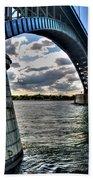 011  Peace Bridge Series II Beautiful Skies Beach Sheet