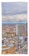 037 Series Of Buffalo Ny Via Birds Eye Downtown Buffalo Beach Towel