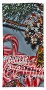 06 Christmas Cards Beach Towel