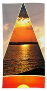 0a Relaxing Sunsets Collage Beach Towel