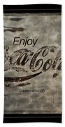 Coca Cola Sign Grungy Red Retro Style Beach Towel