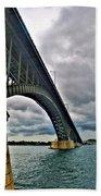 009 Stormy Skies Peace Bridge Series Beach Towel