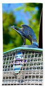 1931 Chevrolet Ae Independence Hood Ornament Beach Towel by Paul Ward