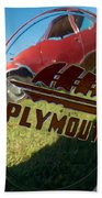 1947 Plymouth Coupe Hubcap Beach Towel