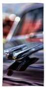 1949 Cadillac Hood Ornament Beach Towel