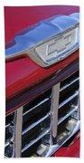 1955 Chevrolet Pickup Truck Grille Emblem Beach Towel