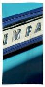 1959 Chevrolet Impala Emblem Beach Towel