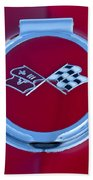 1967 Chevrolet Corvette Emblem Beach Towel