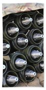 81mm Mortar Rounds Ready Stacked Ready Beach Towel