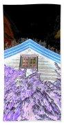 A Flowery House In Norway Beach Towel