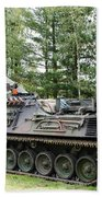 A Leopard 1a5 Mbt Of The Belgian Army Beach Towel by Luc De Jaeger