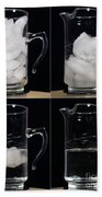 A Pitcher Of Ice Melts Over 4 Hours Beach Towel