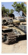A T-72 Tank Destroyed By Nato Forces Beach Towel