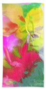 Abstract Garden Impressions Beach Towel