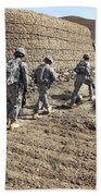 Afghan National Army And U.s. Soldiers Beach Towel