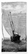 Americas Cup, 1887 Beach Towel