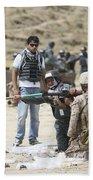 An Afghan Police Student Loads A Rpg-7 Beach Sheet