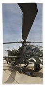 An Ah-64d Apache Helicopter At Cob Beach Towel
