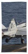 An Fa-18c Hornet Taking Beach Towel