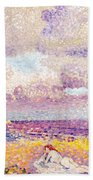 An Incoming Storm Beach Towel by Henri-Edmond Cross