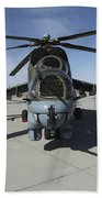An Mi-24 Hind Helicopter Beach Towel