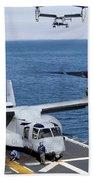 An Mv-22 Osprey Tiltrotor Aircraft Beach Towel
