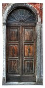an old wooden door in Italy Beach Towel by Joana Kruse