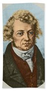 Andre Marie Amp�re, French Physicist Beach Towel