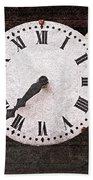 Antique Clocks Beach Towel by Elena Elisseeva