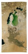 Aral Sea Beach Towel by NASA / Science Source