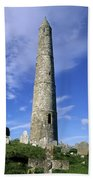 Ardmore Round Tower, Ardmore, Co Beach Towel