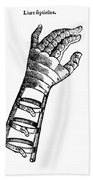 Artificial Hand Designed By Ambroise Beach Towel by Science Source