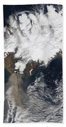 Ash Plume From Eyjafjallajokull Beach Towel