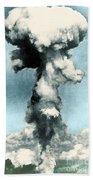 Atomic Bombing Of Nagasaki Beach Towel