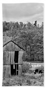 Autumn Farm Monochrome Beach Towel by Steve Harrington