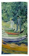 Bank Of The Oise At Auvers Beach Towel